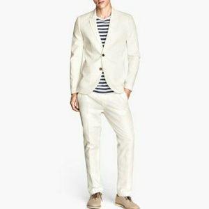 Men's Linen Slim Fit H&M Beige Jacket Size 40R